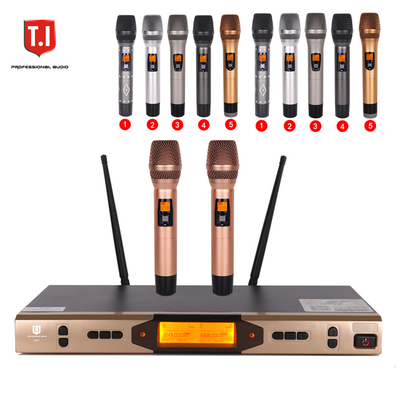 K-880 Pro UHF Dual Channels Wireless Microphone System