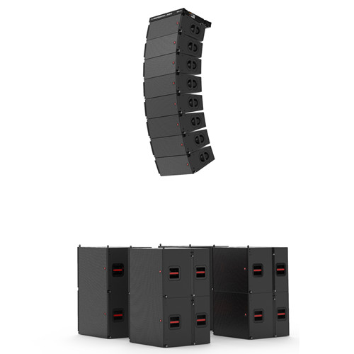 MAX6&MAX18S Two way dual 6'' line array, single 18'' subwoofer